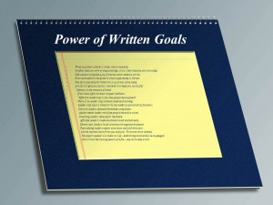 power of writting your goals and dreams
