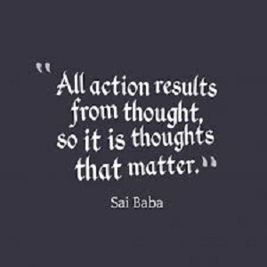 thoughts and action