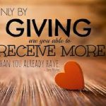 The Virtue Of Giving – A little Grain Of Gold