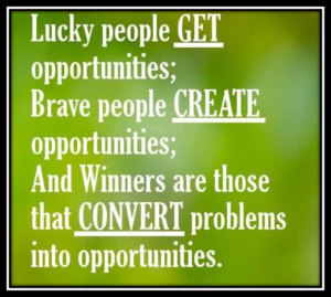 How to Change your problem in to opportunity.