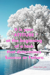 right attitude quote