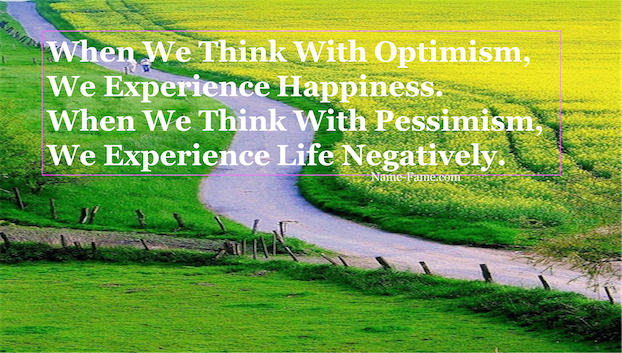 The Importance of Being Optimist for a more Successful life