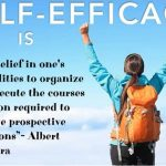 What is self-efficacy?