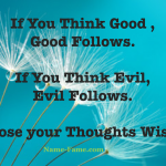 Choose Your Thoughts Wisely To Bring Positive Changes