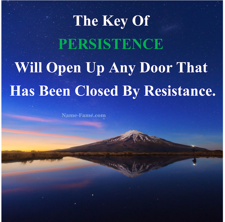 Perseverance is the secret to success